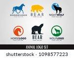 animal logo template set | Shutterstock .eps vector #1098577223
