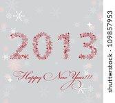 2013 new year postcard.  raster ... | Shutterstock . vector #109857953