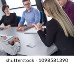 group of business people... | Shutterstock . vector #1098581390