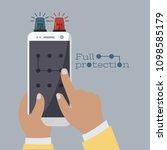 art full protection cartoon....   Shutterstock .eps vector #1098585179