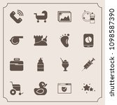 modern  simple vector icon set... | Shutterstock .eps vector #1098587390