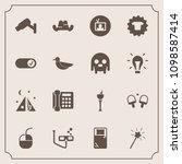 modern  simple vector icon set... | Shutterstock .eps vector #1098587414