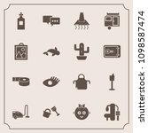 modern  simple vector icon set... | Shutterstock .eps vector #1098587474