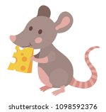 cute cartoon mouse eating... | Shutterstock .eps vector #1098592376