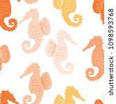 hand drawn vector seamless tile ... | Shutterstock .eps vector #1098593768