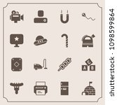 modern  simple vector icon set... | Shutterstock .eps vector #1098599864