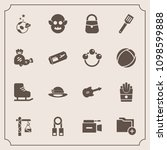 modern  simple vector icon set... | Shutterstock .eps vector #1098599888