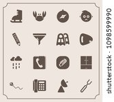 modern  simple vector icon set... | Shutterstock .eps vector #1098599990