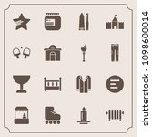 modern  simple vector icon set... | Shutterstock .eps vector #1098600014