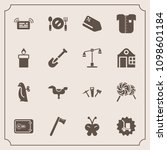 modern  simple vector icon set... | Shutterstock .eps vector #1098601184