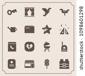 modern  simple vector icon set... | Shutterstock .eps vector #1098601298