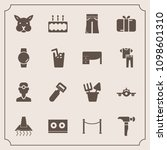 modern  simple vector icon set... | Shutterstock .eps vector #1098601310