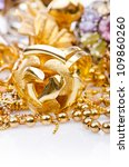 large collection of gold... | Shutterstock . vector #109860260
