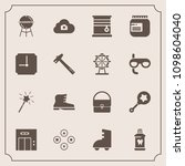modern  simple vector icon set... | Shutterstock .eps vector #1098604040
