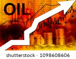 price of rising fuel prices. up ... | Shutterstock . vector #1098608606