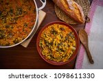 rice with chard recipe from... | Shutterstock . vector #1098611330