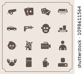 modern  simple vector icon set... | Shutterstock .eps vector #1098611564