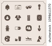 modern  simple vector icon set... | Shutterstock .eps vector #1098611570