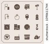 modern  simple vector icon set... | Shutterstock .eps vector #1098611744