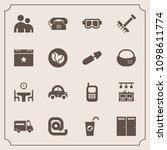modern  simple vector icon set... | Shutterstock .eps vector #1098611774