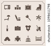 modern  simple vector icon set... | Shutterstock .eps vector #1098611798