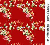 seamless pattern with... | Shutterstock . vector #1098613019