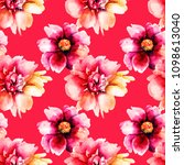 seamless pattern with original... | Shutterstock . vector #1098613040