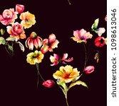 floral seamless pattern ... | Shutterstock . vector #1098613046