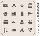 modern  simple vector icon set... | Shutterstock .eps vector #1098616304