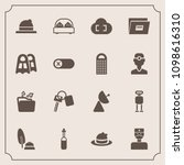 modern  simple vector icon set... | Shutterstock .eps vector #1098616310