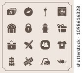 modern  simple vector icon set... | Shutterstock .eps vector #1098616328