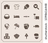 modern  simple vector icon set... | Shutterstock .eps vector #1098616448