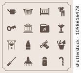 modern  simple vector icon set... | Shutterstock .eps vector #1098616478