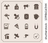 modern  simple vector icon set... | Shutterstock .eps vector #1098616544