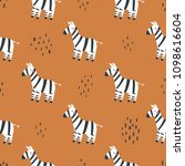 seamless pattern with cute...   Shutterstock .eps vector #1098616604