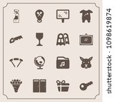 modern  simple vector icon set... | Shutterstock .eps vector #1098619874