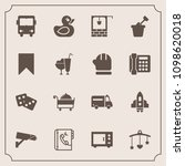 modern  simple vector icon set... | Shutterstock .eps vector #1098620018