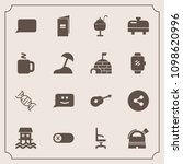 modern  simple vector icon set... | Shutterstock .eps vector #1098620996