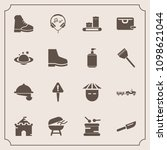 modern  simple vector icon set... | Shutterstock .eps vector #1098621044