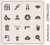 modern  simple vector icon set... | Shutterstock .eps vector #1098621050