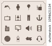 modern  simple vector icon set... | Shutterstock .eps vector #1098621134