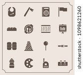modern  simple vector icon set... | Shutterstock .eps vector #1098621260