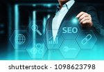 seo search engine optimization... | Shutterstock . vector #1098623798