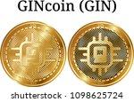 set of physical golden coin...   Shutterstock .eps vector #1098625724