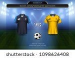 football cup 2018 group c ... | Shutterstock .eps vector #1098626408