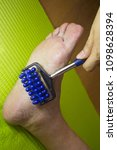 Small photo of Massage on leg to elderly person to activate circulation