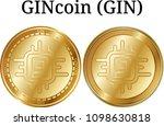 set of physical golden coin...   Shutterstock .eps vector #1098630818