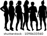silhouette of a woman. | Shutterstock .eps vector #1098633560