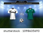 football cup 2018 group f ... | Shutterstock .eps vector #1098635693