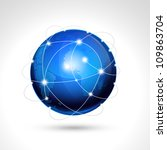 world globe  network icon. | Shutterstock .eps vector #109863704